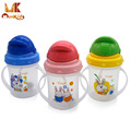 MK 2016 Newborn Baby Cute Rice Cereal Feeding Bottle Infant Straw Cup Drinking Bottle Sippy Cups With Handles Free Shipping
