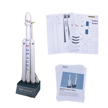 1:160 Space X Falcon Heavy-duty Rocket 3D Paper Model Puzzle Student Hand Class DIY Space Papermodel Origami Toy 42cm(China)