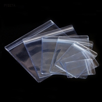 0 48mm Transparent PVC Packaging Pack Plastic Bags Jewelry Storage Bags Anti Oxidation Zip Resealable