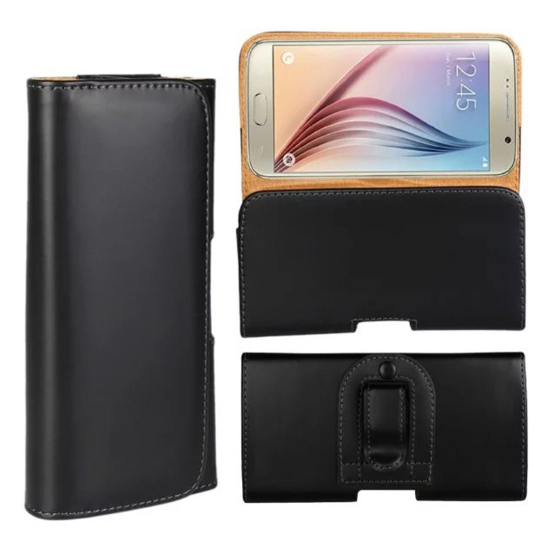 Sarung Sarung untuk Samsung Galaxy S7 Edge Leather Case Men Belt Clip Phone Bag Cover untuk Samsung Galaxy J5 A5 2016 S6 Note 3 Case