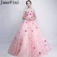 JaneVini 2018 Beautiful Plus Size Bridesmaid Dresses Sweetheart Hand Made Flowers Big Bow Back A Line Long Maid Of Honor Gowns