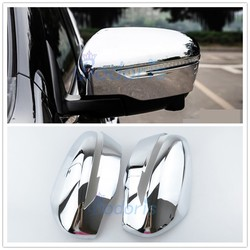 For Nissan X-trail Xtrail Side Wing Mirror Cover Rear View Overlay 2014 2015 2016 2017 2018 Chrome Car Styling Accessories