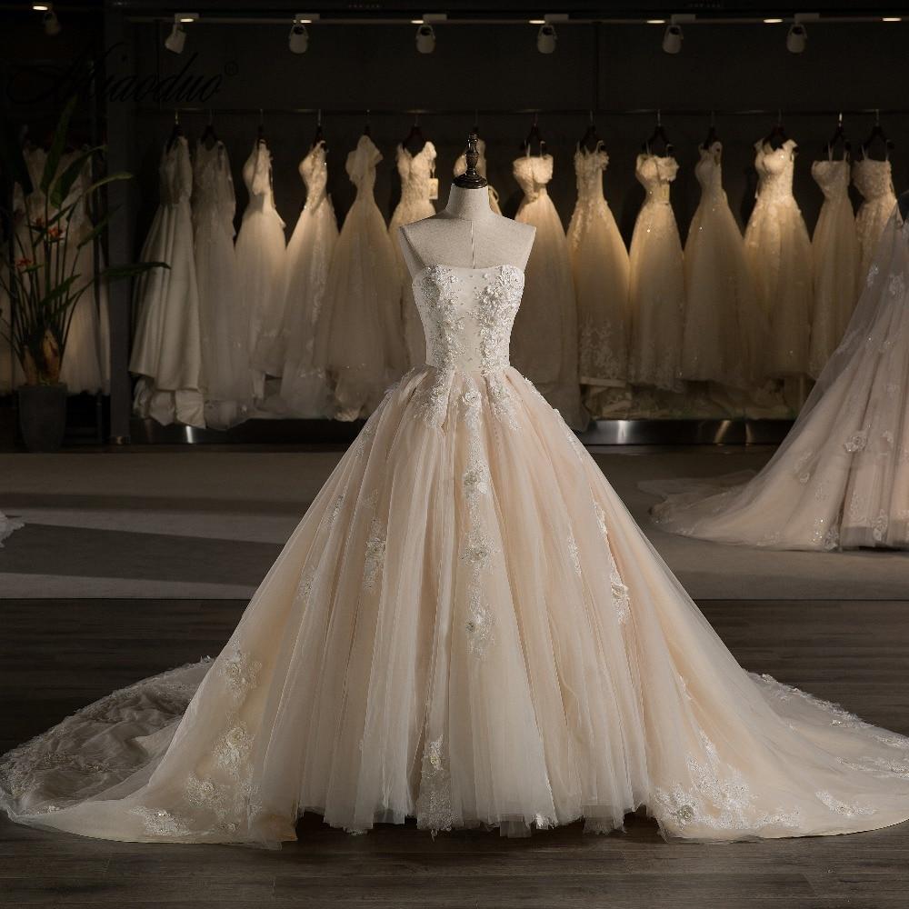 miaoduo Vestido De Noiva vállnélküli hercegnő esküvői ruha 2018 - Esküvői ruhák