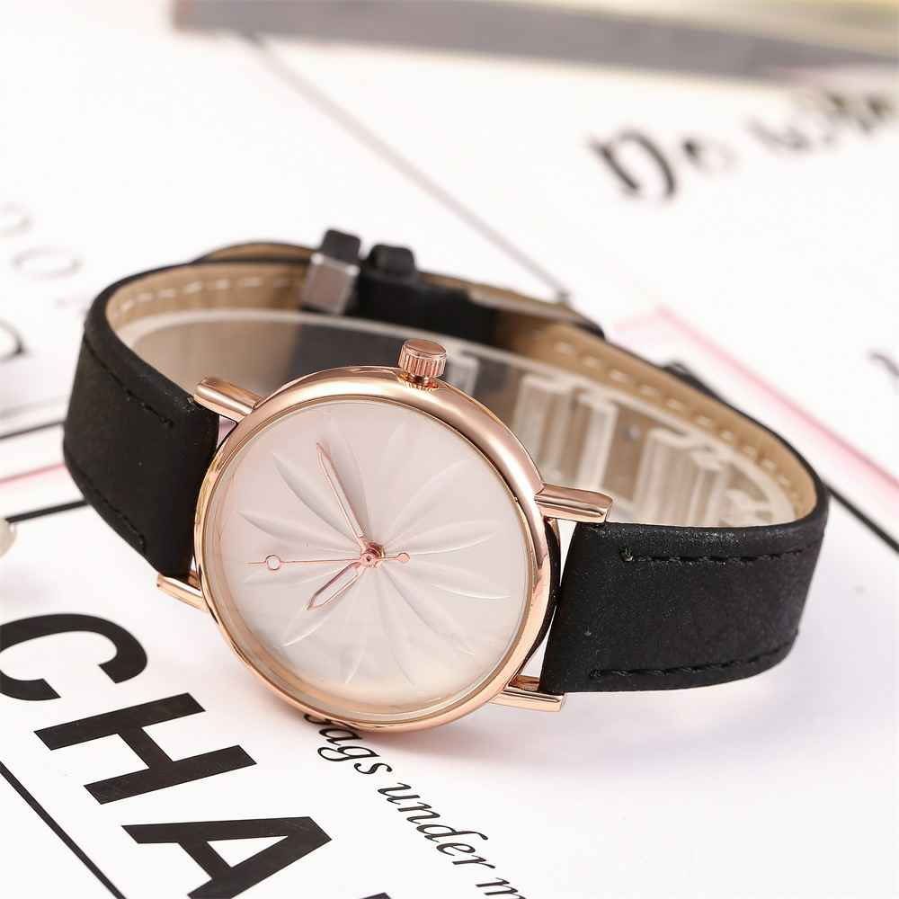 2019 New Luxury Brand Women 39 s Watch Leather Band Simple Style Quartz Watch Fashion Wristwatch Ladies Watches Clock For Women in Women 39 s Watches from Watches
