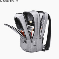 2018 The New Women Men Backpack Anti Theft USB Charging Interface 17 Inch Laptop Backpack School