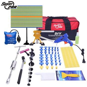Super PDR Tool Kit Für Auto Professionelle Ausbeulen ohne Reparatur Werkzeuge Set Hagel Dent Remova Kit Dent Puller Ziehen Brücke werkzeug Tasche