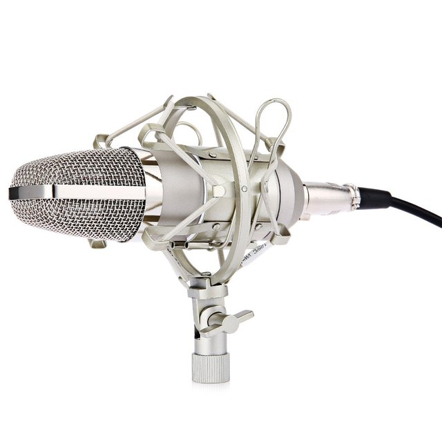 BM - 700 Microphone Uni-directional Condenser Studio Sound Recording Microphone with Shock Mount for Radio Braodcasting speech
