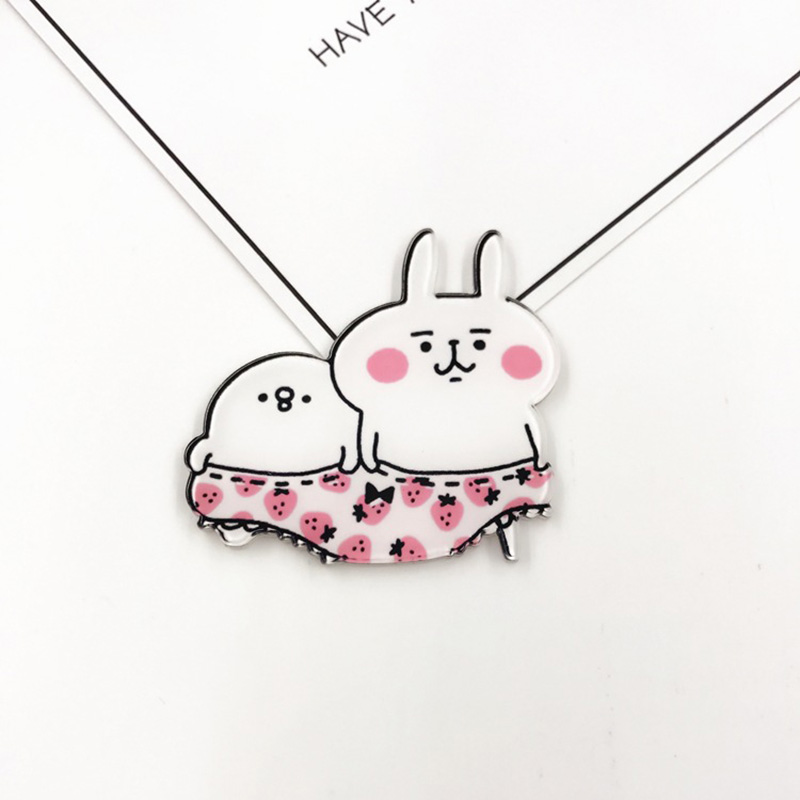 12 Pieces Acrylic Badge Rabbit Cartoon Brooches For Clothing Bags Lapel Collar Decoration Button Pins Brooch Fashion Jewerly