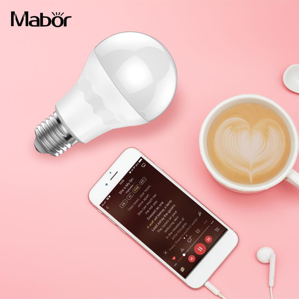 Super Bright LED Bulb Light Lamp Decoration Bedroom Unicolor E27 Smart WIFI 7.5W