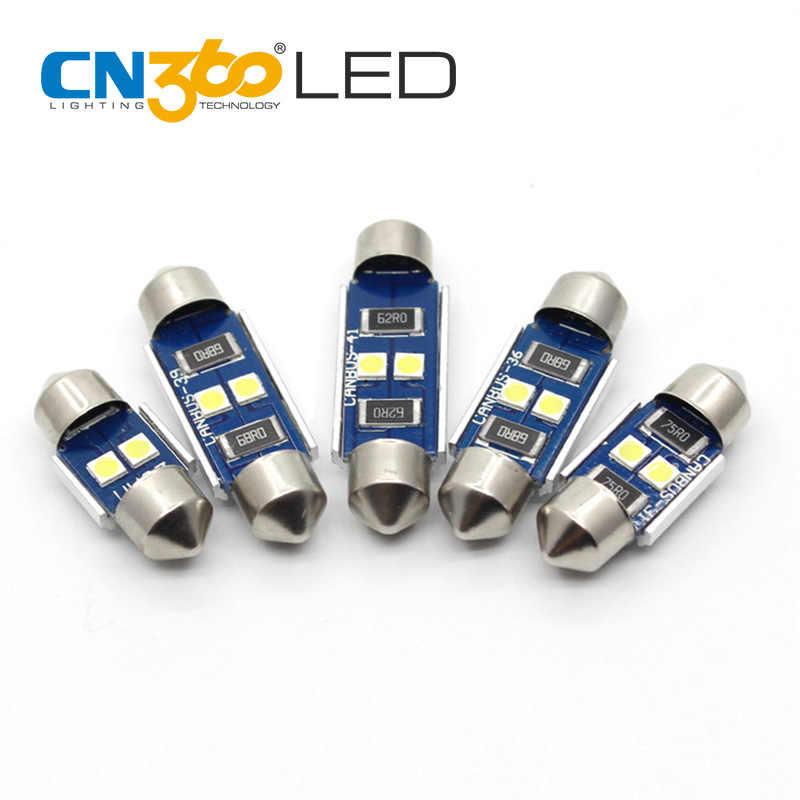 CN360 2 Buah Kualitas Tinggi SMD3030 Chip Memperhiasi Dome C5W LED 28 Mm 31 Mm 36 Mm 39 Mm 41 MM Mobil LED untuk Lampu Plat Nomor