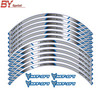 12 X Thick Edge Outer Rim Sticker Stripe Wheel Decals Motorcycle For YAMAHA TRACER 700 900 850 MT07 MT 07