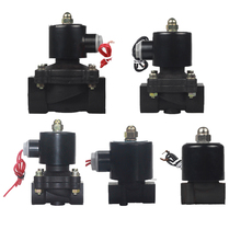 цена на New 2 way Brass coil Air gas water plastic solenoid valve 1/4