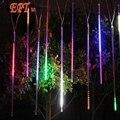Lluvia de Meteoros Lluvia Tubos guirnalda 20 CM 30 CM 50 cm 8 Tube/set Blanco LED de Navidad Boda Del Jardín decoración Ligera de la Secuencia 110 V/220 V