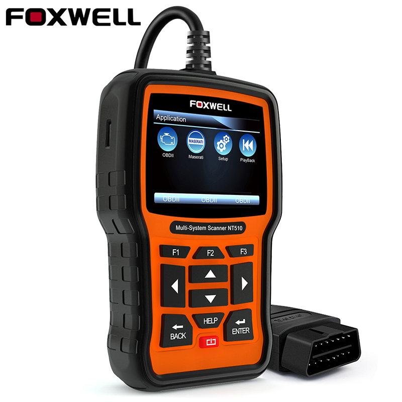 Foxwell NT510 OBD OBD2 Car Diagnostic Tool for Maserati Porsche BMW Benz ABS SRS Airbag Oil Reset DPF Full System Auto Scanner