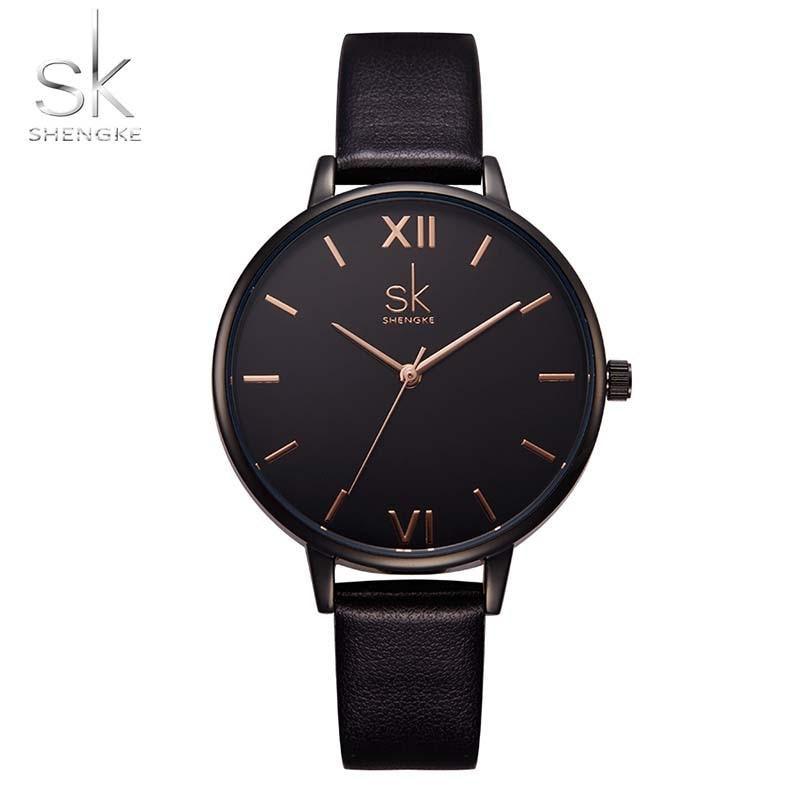 Women Watches Hot fashion creative watches women New Elegant Dress Leather Strap Ultra Slim Wrist Watch clock Reloj Mujer 2
