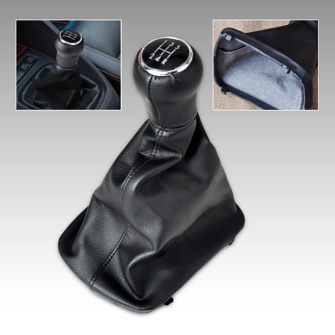 Citall 1 pc preto 5 velocidade da engrenagem shift knob gaitor boot oem. nenhum 4b0863279a para audi a6 c5 a4 b5 a8 d2 1997 1998 1999 2000 2001