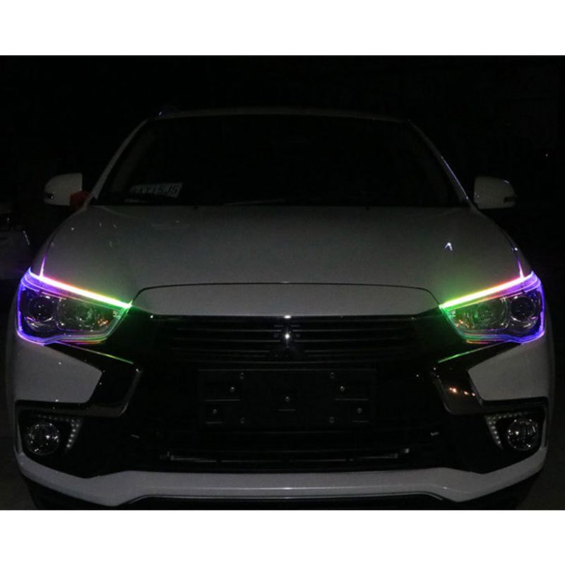 45CM 60CM <font><b>Guide</b></font> Strip LED Daytime Running Lights Angel Eye <font><b>Car</b></font> Headlights Turning Light Streaming External Light image