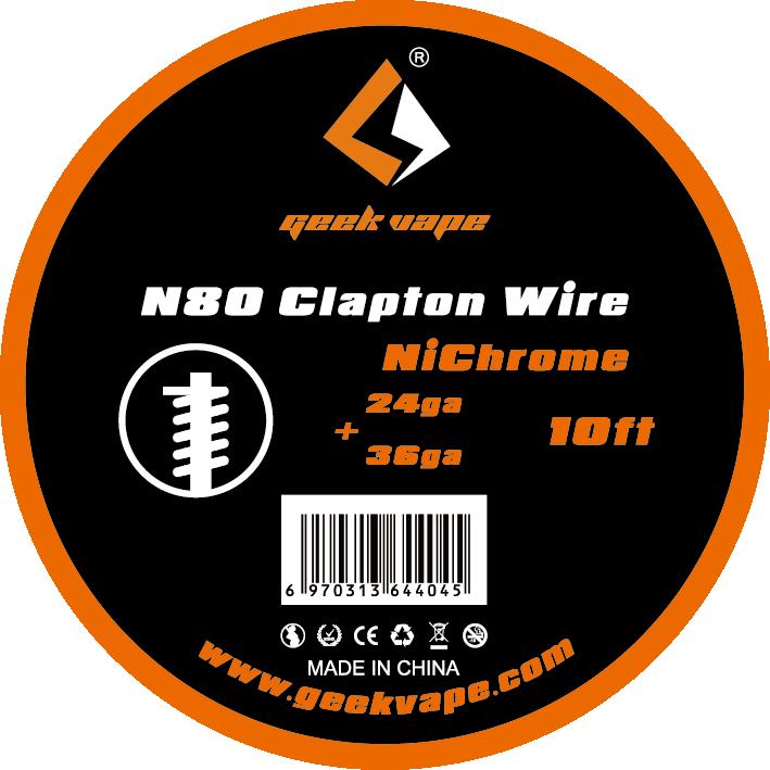 Original GeekVape N80 Fused Clapton Wire(24ga+36ga) For Electronic Cigarette Tank Vape Accesorry