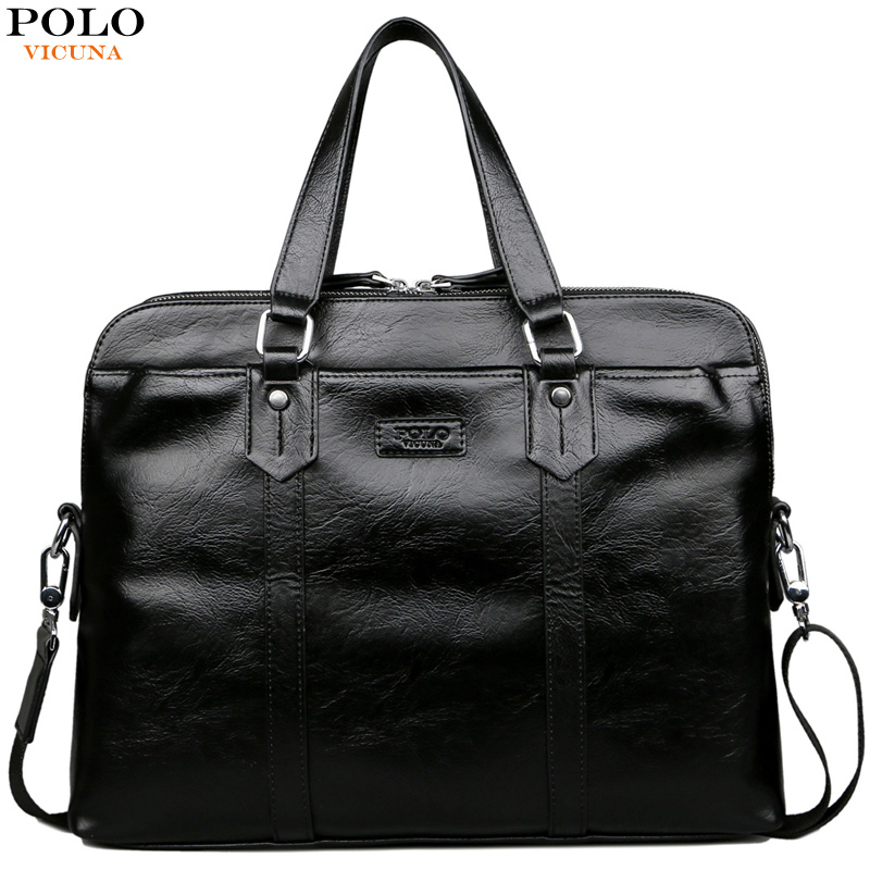 VICUNA POLO New Black Solid Soft Leather Man