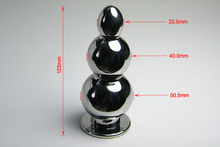 Dia 50.5 MM Large Stainless Steel Anal Beads Butt Plug,Fetish Erotic Porno Sex Products Adult Games Toys For Women And Men Gay