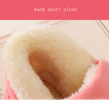 New arrival waterproof women PU leather snow boots warm short plush ankle boot female winter shoes woman large big size 41 45