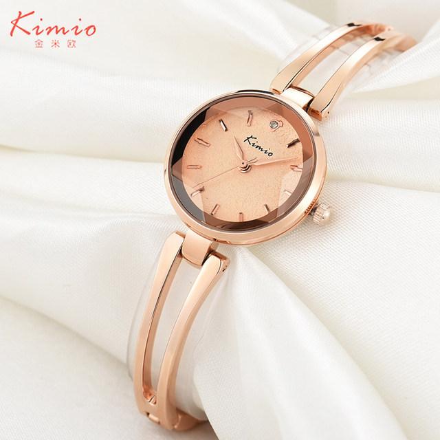 2016 kimio marca pulseira relógios para senhoras de alta qualidade top casual relógio de pulso de quartzo vestido relógio de aço inoxidável à prova d' água