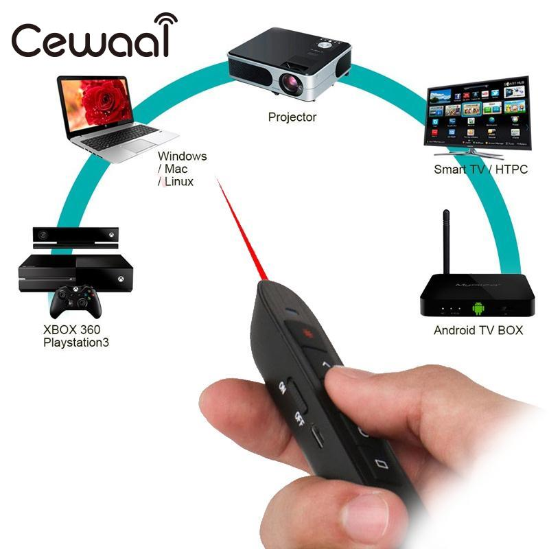 CEWAAL Wireless Remote Control PPT Projection Scrolling Laser Pointer Pen Class Office Projection Laser Pen