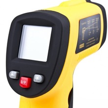 Discount! GM550 Digital Non-Contact -50 To 550 degree LCD IR Laser Infrared Thermometer Themperature Measurement Electronic Point Gun
