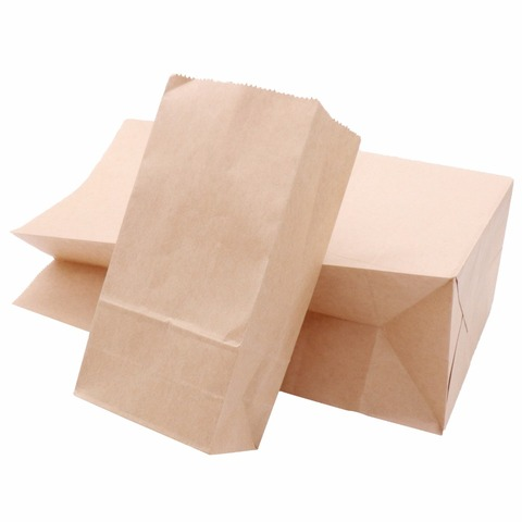 50pcs Kraft Paper Bags Food tea Small Gift Bags Sandwich Bread Bags Party Wedding supplies Wrapping Gift takeout take out Bags Multan