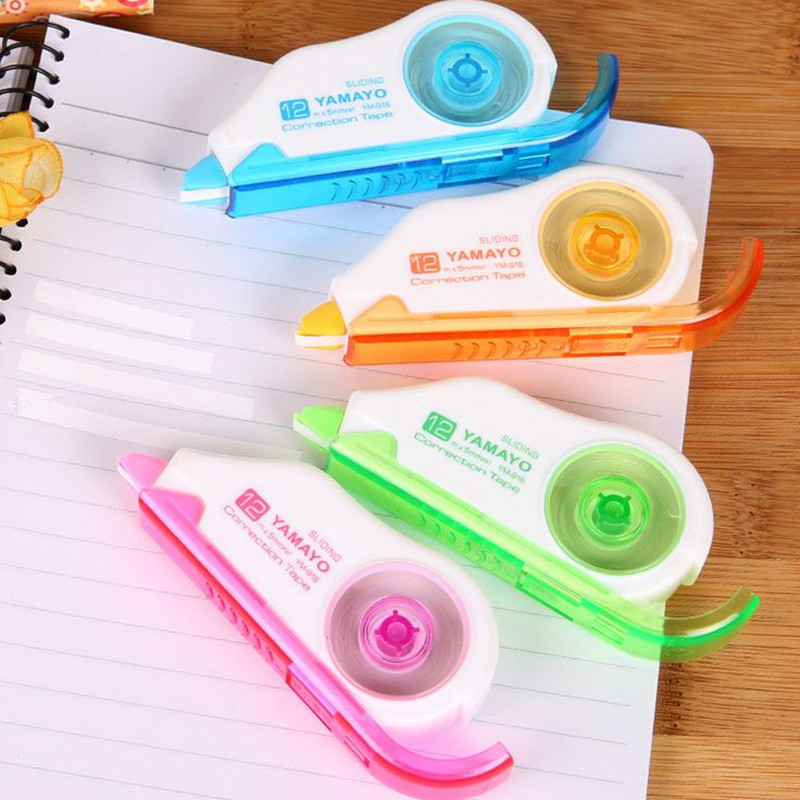 Coloffice 1PC Candy Color Correcting Tapes For Student 12m School Office Supplies Correttore Nastro Stationery Erasers Corrector