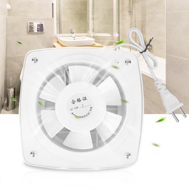 Bathroom Kitchen Window Wall Mount Exhaust Fan Air Vent Ventilation Exhaust  Fan Wall Mount Ventilation Fan