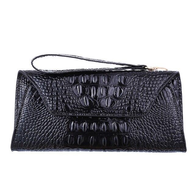 New Crocodile Pattern Elegant Evening Bags Handbags Women Famous Brands Cheap Clutches Women 2016 Designer Envelope Clutches