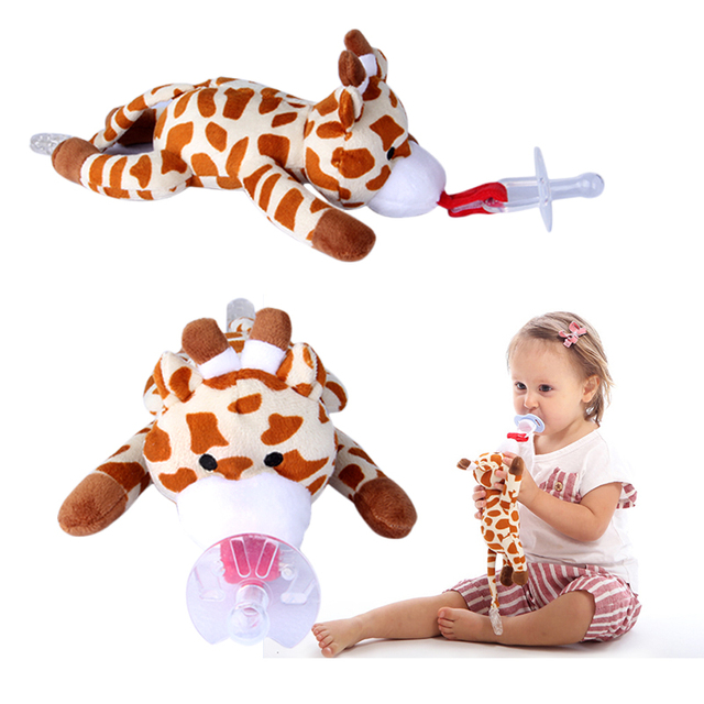 Baby Pacifier Holder Mam Pacifier Clips With Plush Animal Toys Food