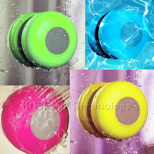 Portable Subwoofer Shower Waterproof Wireless Bluetooth Speaker Car Handsfree Receive Call Music Suction Mic for mobile