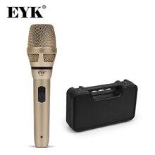 EYK EVM2/EVM2H micro à fil dynamique avec boîtier en plastique!! Enregistrement diffusion DJ karaoké fête réunion église fil micro