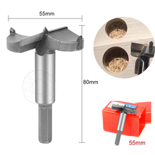 цена на 1pc 55mm Forstner Wood Drill Bit Centering Hole Saw Wood Cutter Woodworking Tools Carbide Rotary Hand Tools