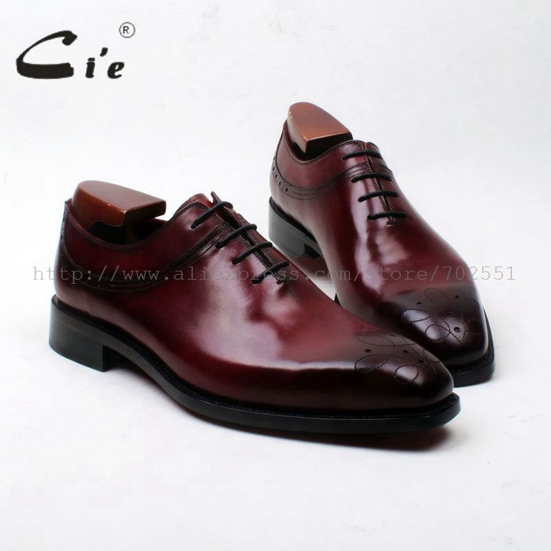 cie Free Shipping Bespoke Custom Handmade Calf Leather Patina Men's Dress/classic /casual Oxford Leather Outsole Shoe NO.ox593 247 classic leather