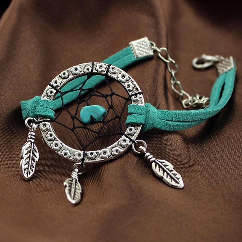 MEMOSTO Dream Cather Hand Catenary Summer Indian dream catcher green black bracelet birthday present girls gif