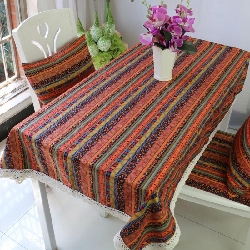 Bohemian Home Table Cloth Dining Table Mat Coffee Tea