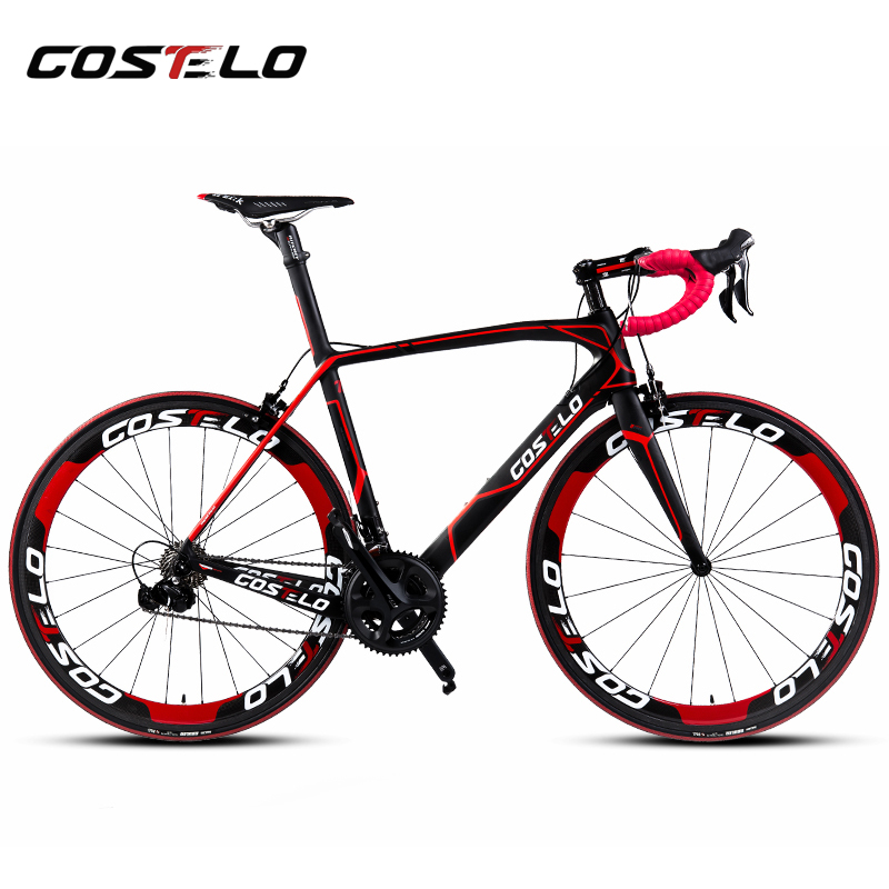 Costelo Cento 1 SR Road bicycle Carbon fiber complete bike carbon frame,handlebar,stem,carbon wheels 50mm 6 level Groupset bici