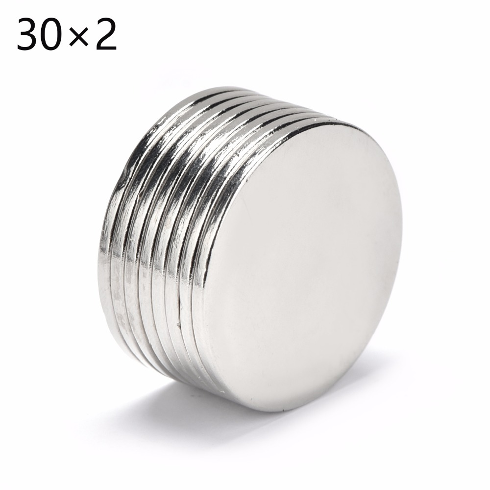20pcs 30*2 Super Powerful Strong Bulk Small Round NdFeB Neodymium Disc Magnets Dia 30mm x 2mm N35 Rare Earth NdFeB Magnet 30x2 rice bulking puffing machine corn puff machine corn puffed extruder
