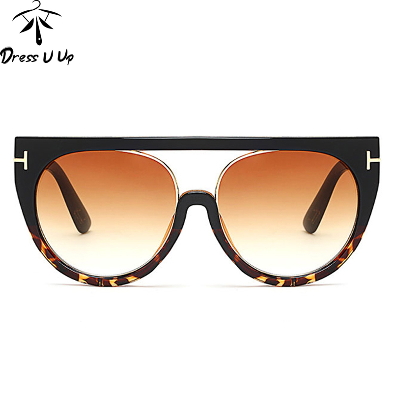 Vintage Big Frame Glasses : DRESSUUP 2017 Vintage Big Frame Sunglasses Women Brand ...