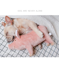 Pet Dog Sleeping Partner Pink Pig Cute French Bulldog Teddy Small Large Dog Plush Toy Christmas Pet Toys Cats Pigs Hedgehog Toy