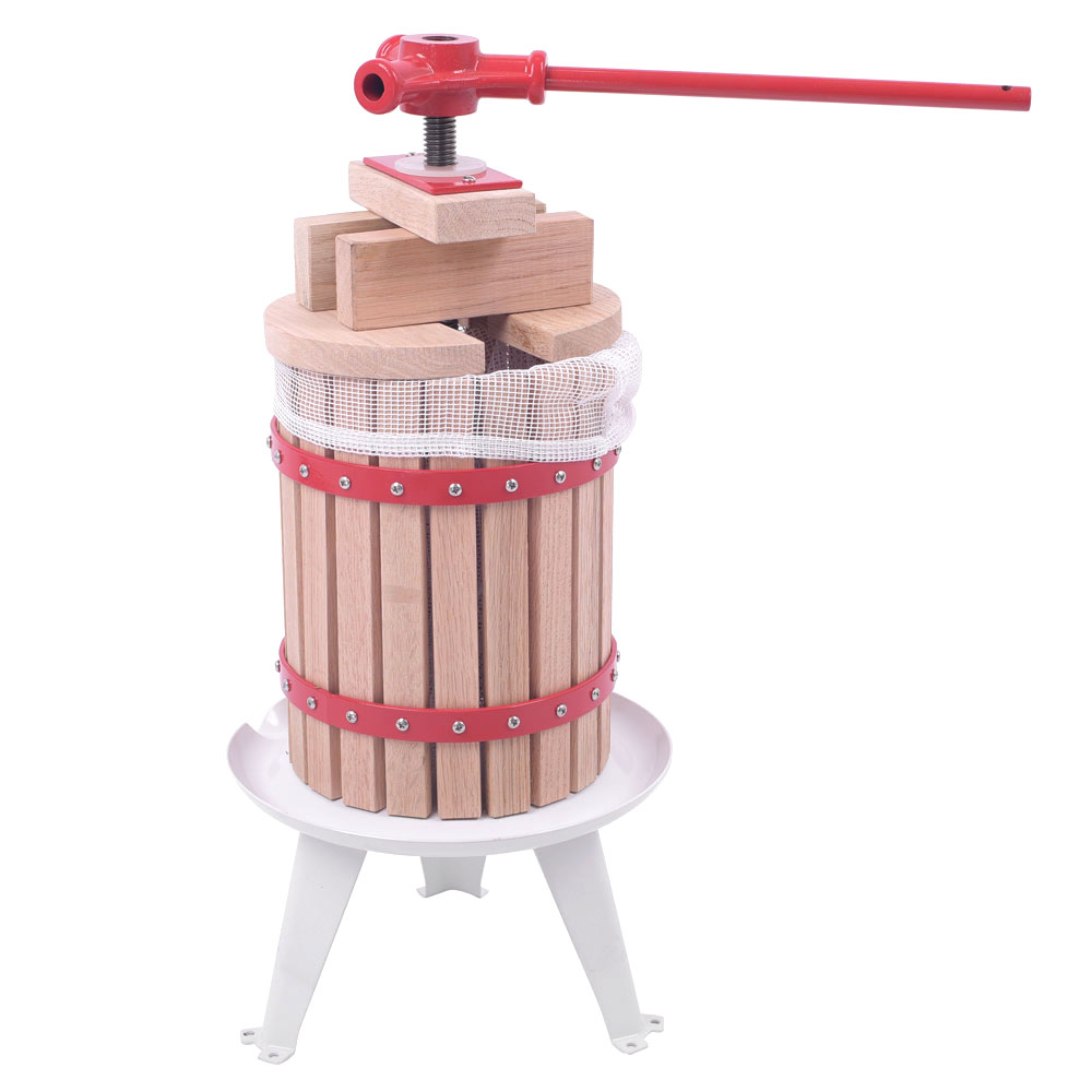 6L/12L/18L Fruit Wine Oak Press Cider Apple Grape Crusher Juice Maker Tool Manual Juicers Wood US