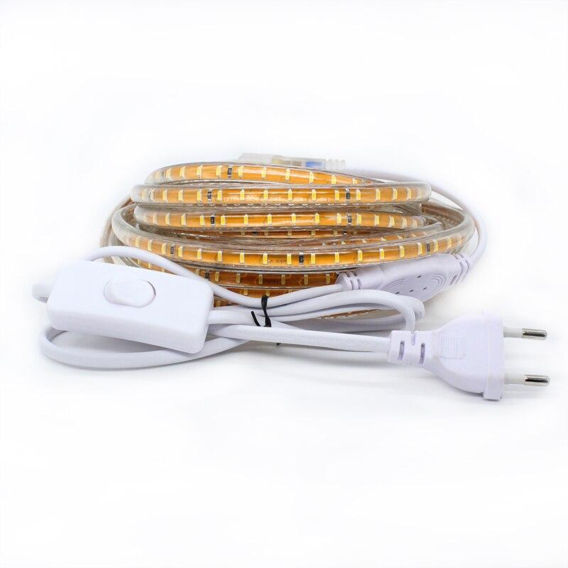 LAIMAIK LED Strip Lights Vattentät med ON / OFF switch AC220V - LED-belysning - Foto 3