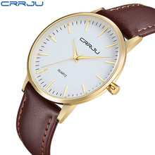 цены на 2017 CRRJU Men Watches Luxury Brand Casual Men Watches Analog Military Sports Watch Quartz Male Wristwatches Relogio Masculino в интернет-магазинах
