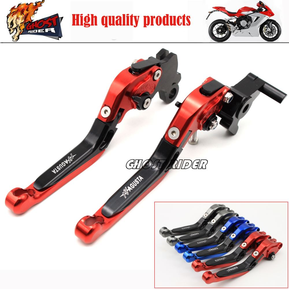 ФОТО fits for MV Agusta Rivale 800 2014-2016 Dragster 800/RR 2014-2016 Motorcycle Adjustable Folding Extendable Brake Clutch Levers