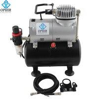 OPHIR PRO воздушный компрессор с танком для хобби Аэрограф автомобиль & Роспись стен украшения торта 220 В ЕС Plug компрессор _ AC090 (220 В)