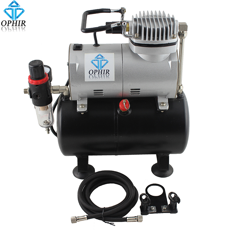OPHIR PRO Air Compressor with Tank for Hobby Airbrush Car & Wall Painting Cake Decoration 220V EU Plug Compressor _AC090(220V) ophir 0 3mm 0 35mm 0 8mm 3 airbrush gun with air compressor for model hobby body paint tattoo cake decoration ac089 004a 071 072