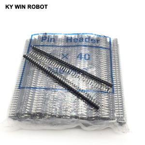 Image 1 - 200pcs 40 Pin 1x40 Single Row Male 2.54mm Breakable Pin Header Right Angle Connector Strip bending